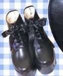 サテンレースアップブーツ(ブーツ)