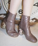 MARTIN MARGIELA | MARTIN MARGIELA RECYCLED CD HEELS BOOTS(靴子)