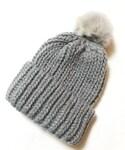 DONOBAN | DONOBAN/リアルファーニット帽(ニットキャップ・ビーニー)