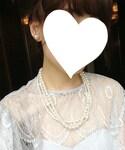 母のネックレス | パール三連ネックレス(ネックレス)