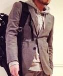 D/him. | グレーのテーラードジャケット。(スーツジャケット)