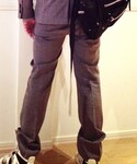 D/him. | セットアップのグレーのスラックス。(スーツパンツ)