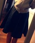 BLISS POINT Womens | フェイクレザー膝丈スカート(スカート)