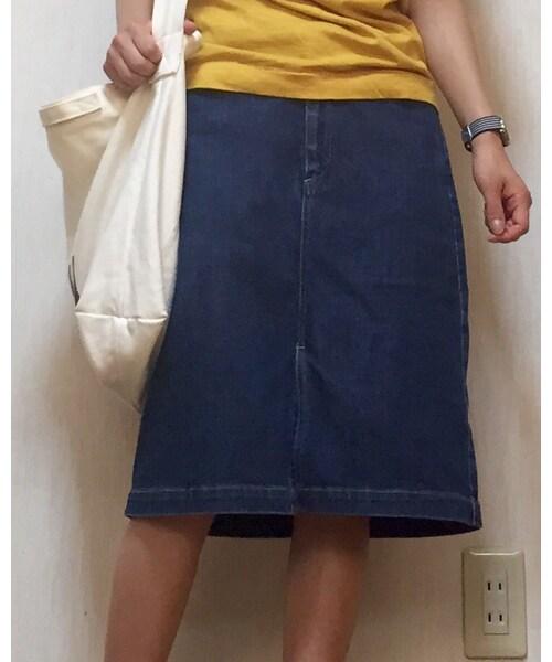 おさがり | (デニムスカート)  おさがり ブランド:おさがり カテゴリ:スカート カラー:ブ