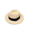 麦わら帽子 リボン/麦わらカンカン帽(ハット)