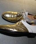 alfredoBANNISTER | ゴールド白の、ひも靴(ドレスシューズ)