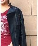 Hard Rock Cafe | Ladies Motor Jacket(ライダースジャケット)