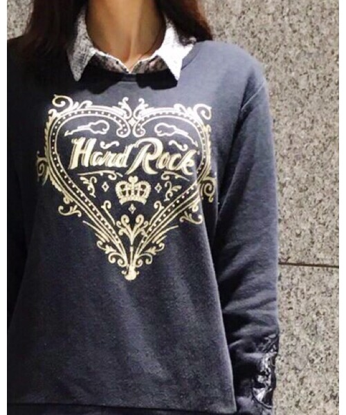 Hard Rock Cafe(ハードロックカフェ)の「Couture Crew Fleece Black(スウェット)」