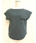 PHEENY | STANDEX BORDER POCKET-T*NVY(Tシャツ・カットソー)