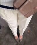 TOMORROWLAND  | ホワイトタックテーパードスラックス(パンツ)