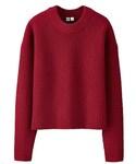 UNIQLO | WOMAN ラムクロップドクルーネックセーター(ニット・セーター)