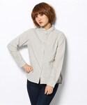 POU DOU DOU | コットンフランネルちび衿シャツ(シャツ・ブラウス)