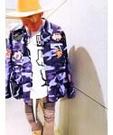 肩がけ〜💃👯🙉✌️️✨ | USミリタリージャケット ブルーカモ(ミリタリージャケット)