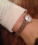 Van Cleef & Arpels | 純金製無垢ブレスレット腕時計(腕時計)