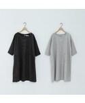 細格紋箭頭造型口袋洋裝(Tシャツ・カットソー)