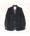BLACK&BLUE | BLACK&BLUE 【ブラック&ブルー】シャツ地2Bジャケット(テーラードジャケット)