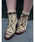 BOTTEGA VENETA | Leather Strap Sandal(パンプス)