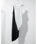 SISTERE | TWINS TANK DRESS [BLACK×WHITE](タンクトップ)