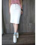 ホワイトデニムタイトスカート(スカート)