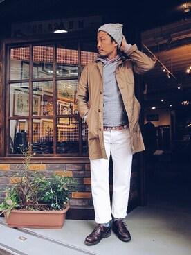 SMART CLOTHING STORE 町田店 YusukeSuzukiさんの「SHOP COAT ARMY BROKEN STRETCH(SABRE)」を使ったコーディネート