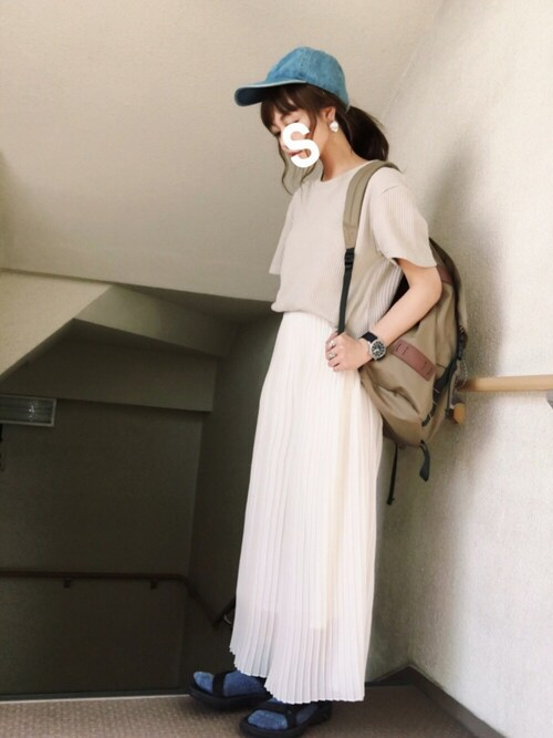 skyさんの「サーマルBIGハーフスリーブTシャツ【niko and...】(niko and...)」を使ったコーディネート