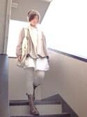 Yumi. さんの「STUDIOUS ウールガウン MADE IN JAPAN(STUDIOUS|ステュディオス)」を使ったコーディネート