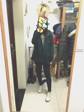 「FOREVER 21 Mid-Rise Skinny Jeans(Forever 21)」 using this kasu. looks