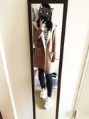 「FOREVER 21+ Classic Striped Sweater(Forever 21)」 using this kasu. looks