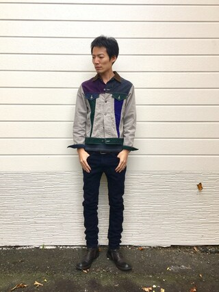 「LEVI'S VINTAGE CLOTHING 606 1960's/スキニー/ブラックカラー/MADE IN THE USA 【ORANGE TAB】(Levi's)」 using this kakuhou looks