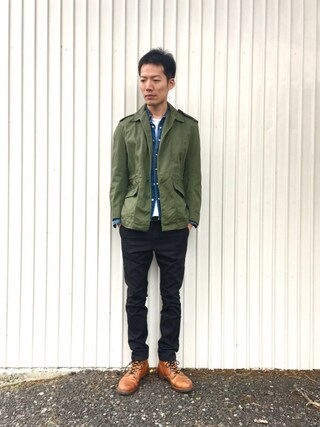 「WD5882ストレッチナローパンツ(Dickies)」 using this kakuhou looks