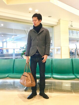 「BROWNS BEACH JACKET×JS LAPEL JACKET/別注 ブラウンズビーチ ラペルジャケット #(JOURNAL STANDARD)」 using this kakuhou looks