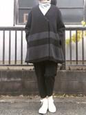 maiko_0219_さんの「TR High Waist long pants(BLACK BY MOUSSY|ブラックバイマウジー)」を使ったコーディネート