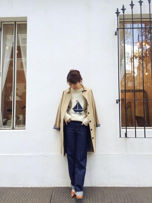 LIFE's#203堀江店|YUKO SAKAGUCHI さんのトレンチコート「タイプライタートレンチコート(TODAYFUL|トゥデイフル)」を使ったコーディネート