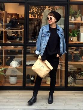 LIFE's堀江店|YUKO SAKAGUCHI さんの「FRANK'sニットキャップ(TODAYFUL)」を使ったコーディネート