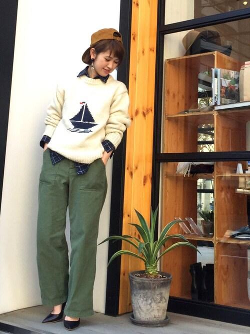 YUKO SAKAGUCHI さんの「ヨットニット(TODAYFUL)」を使ったコーディネート
