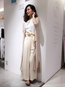 USAGI ONLINE STORE|shizuka ishiguroさんの「フリルベルト付きパンツ(snidel)」を使ったコーディネート