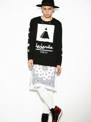 LEGENDA|LEGENDA_TOKYOさんの「MASONIC LOGO L/S TEE(LEGENDA|レジェンダ)」を使ったコーディネート