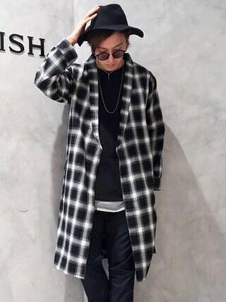 LEGENDA|LEGENDA_TOKYOさんの「オンブレチェックロングガウン[LES101](LEGENDA|レジェンダ)」を使ったコーディネート
