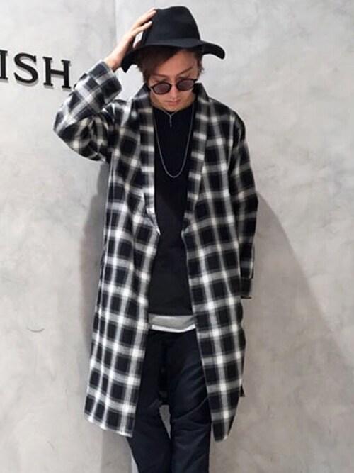 LEGENDA_TOKYOさんの「オンブレチェックロングガウン[LES101](LEGENDA)」を使ったコーディネート