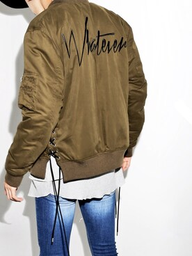 LEGENDA|LEGENDA_TOKYOさんの「WHATEVER SIDE LACED BOMBER JACKET(MA-1)(LEGENDA)」を使ったコーディネート