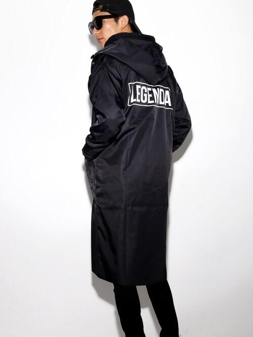 LEGENDA_TOKYOさんの「LEGENDA LOGO ナイロンロングコート(LEGENDA)」を使ったコーディネート