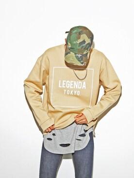 LEGENDA|LEGENDA_TOKYOさんの「KNEE CRASH スーパースキニーデニム(LEGENDA)」を使ったコーディネート