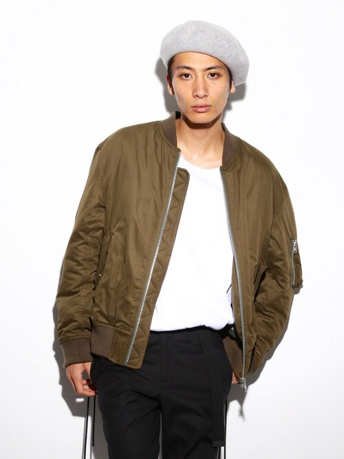 LEGENDA_TOKYOさんの「WHATEVER SIDE LACED BOMBER JACKET(MA-1)(LEGENDA)」を使ったコーディネート