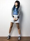 椎名成美さんの「ALL DAY SATINショートパンツ(Ravijour|ラヴィジュール)」を使ったコーディネート