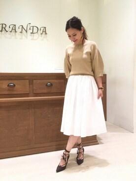 RANDA AEONMALL鶴見緑地店|risa_matsunoさんの(RANDA|ランダ)を使ったコーディネート