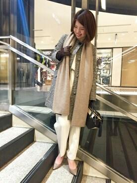 Noble 横浜店|yuriさんの「グレンチェック リングツイードコート◆(Spick and Span Noble)」を使ったコーディネート