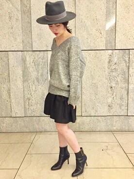 Noble 横浜店|yuriさんの「ラメミックス ルーズプルオーバー◆(Spick and Span Noble)」を使ったコーディネート