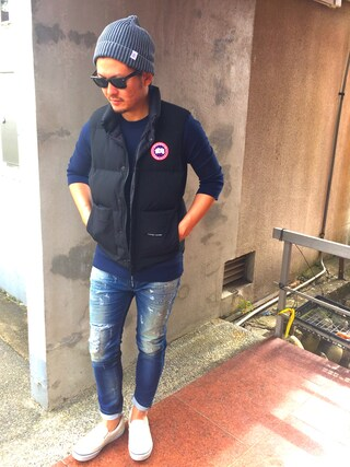 yosukeさんの「BAYFLOW/フェイドニットワッチ(BAYFLOW ベイフロー)」を使ったコーディネート
