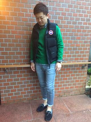 yosukeさんの「CANADA GOOSE FREESTYLE VEST/カナダグース フリースタイルベスト#(CANADA GOOSE|カナダグース)」を使ったコーディネート