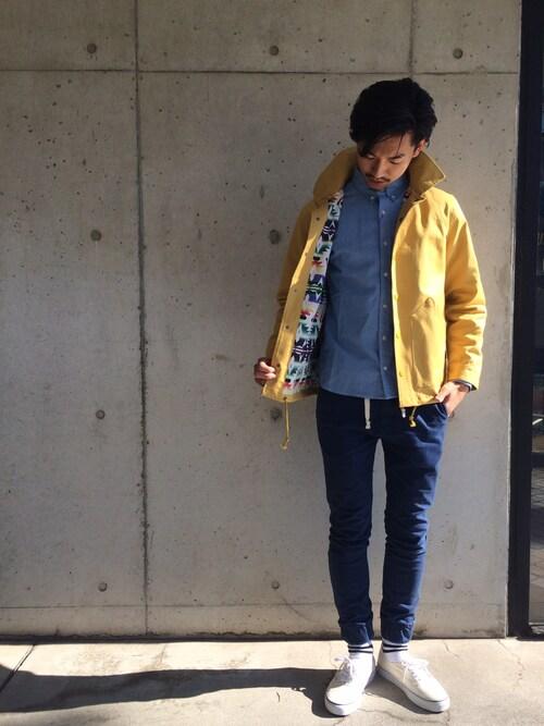 MIDTIDE鎌倉店 | MIDTIDEkamakuraさんのその他アウター「MAGIC NUMBER Stretch Twill Coach Jacket Original Pattern Lining」を使ったコーディネート